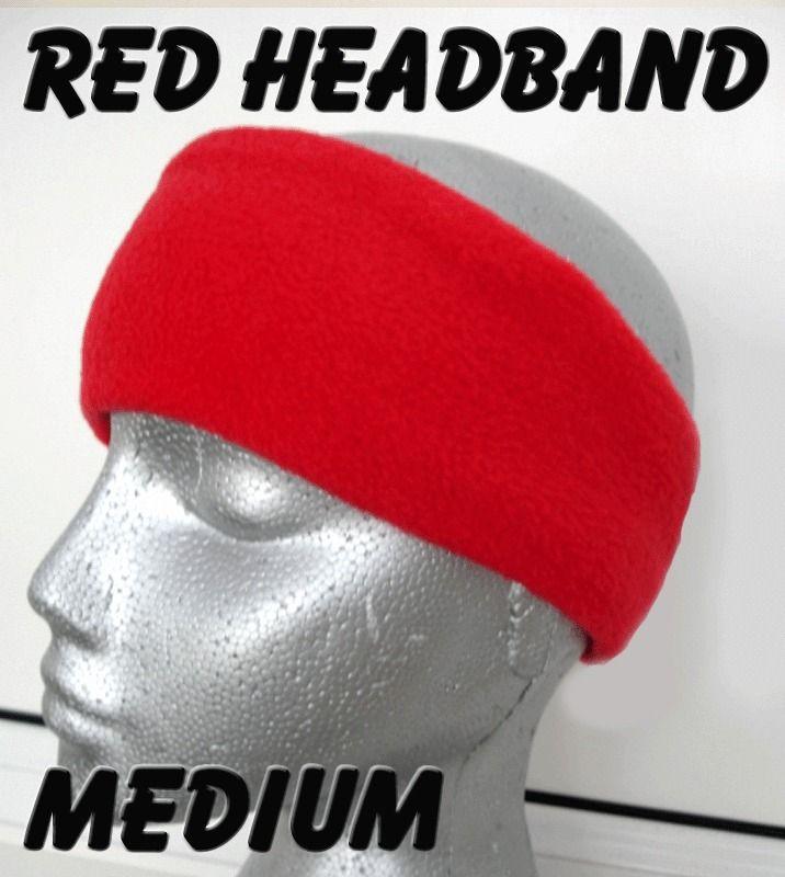 3b0fa366997 RED HEADBAND polar fleece ear head warmer hat ski adult men s women s golf  sweat