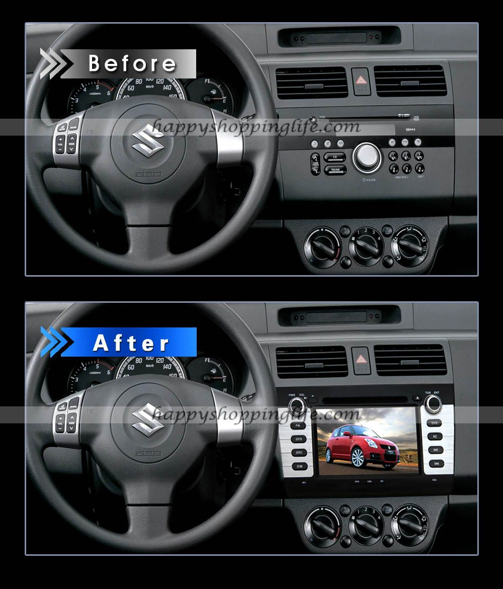 Install suzuki swift dvd navigation system with bluetooth tv fm usb sd http