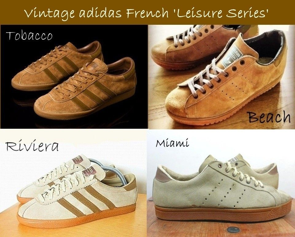 fd466ebe7865a Stunning French vintage trainers, all based on the Tobacco ...