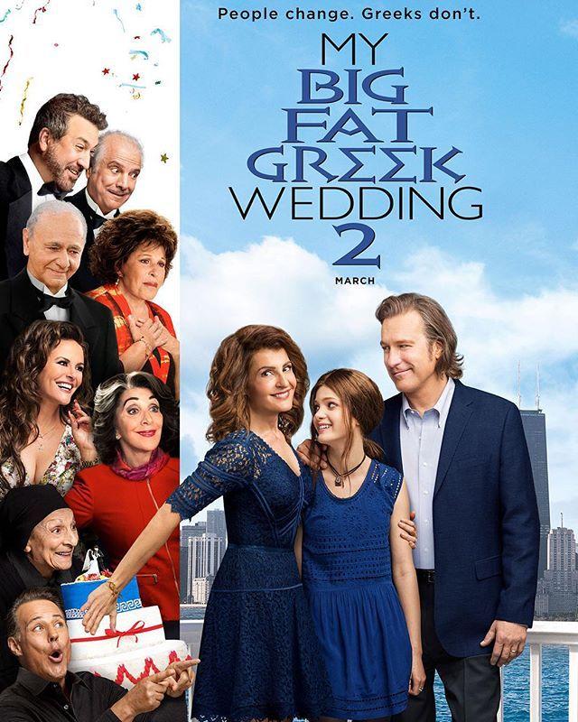 The Mybigfatgreekwedding2 Poster Guess Who S Back For The Sequel Hint Everyone Greek Wedding 2 Greek Wedding Good Movies