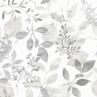 30 75 Sq Ft Grey Breezy Peel And Stick Wallpaper Peel And Stick Wallpaper Botanical Wallpaper Nuwallpaper