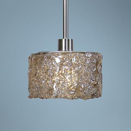 uttermost terumi spun gl 1 light mini pendant let there