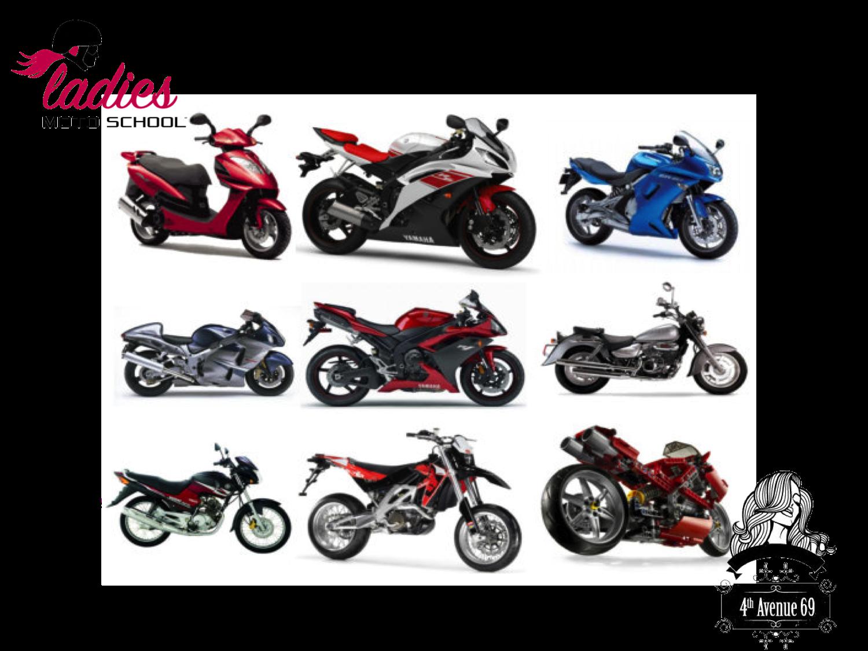 MOTO ESCUELA PARA MUJERES BY 4TH AVENUE 69 ¿cuáles son los tipos de motos que existen? Existen muy diversos tipos de acuerdo a sus características y usos. Algunos de ellos son: motos deportivas, motos naked, deportivas junior, de calle, de tipo turismo, sport, trail enduro, motonetas y ciclomotores entre otros. #4thAvenue69byLadiesMotoSchool