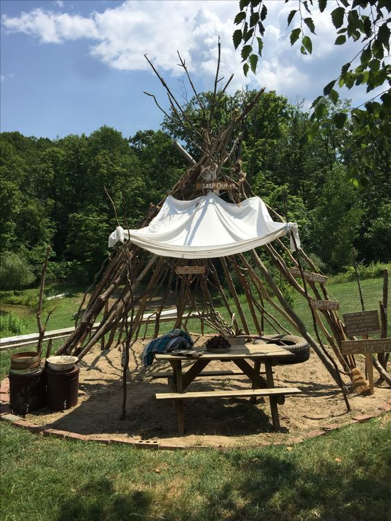 How To Make This Awesome DIY Teepee In Your Yard At $0 ...
