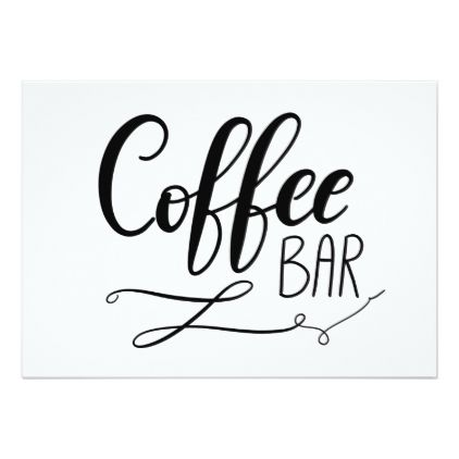 Coffee bar simple casual handwritten script card wedding coffee bar simple casual handwritten script card wedding invitations cards custom invitation card design stopboris Gallery