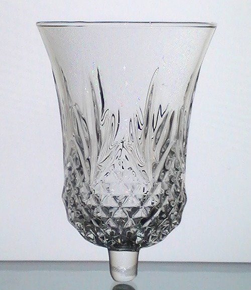 home interiors peg votive candle holder crystal windsor 11334 lg 5 5