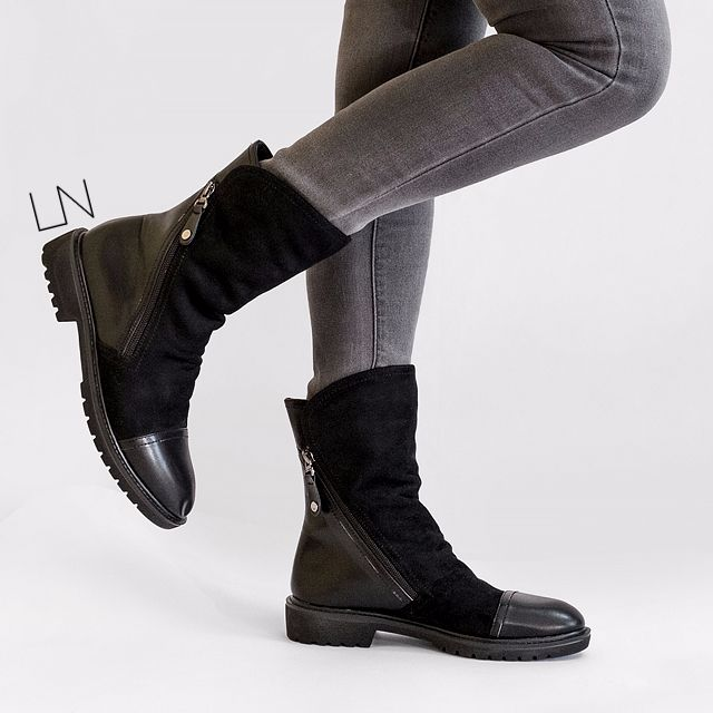 Womens Mid-Calf Bandage Zipper Patent Leather Urethane Boots ABL10563