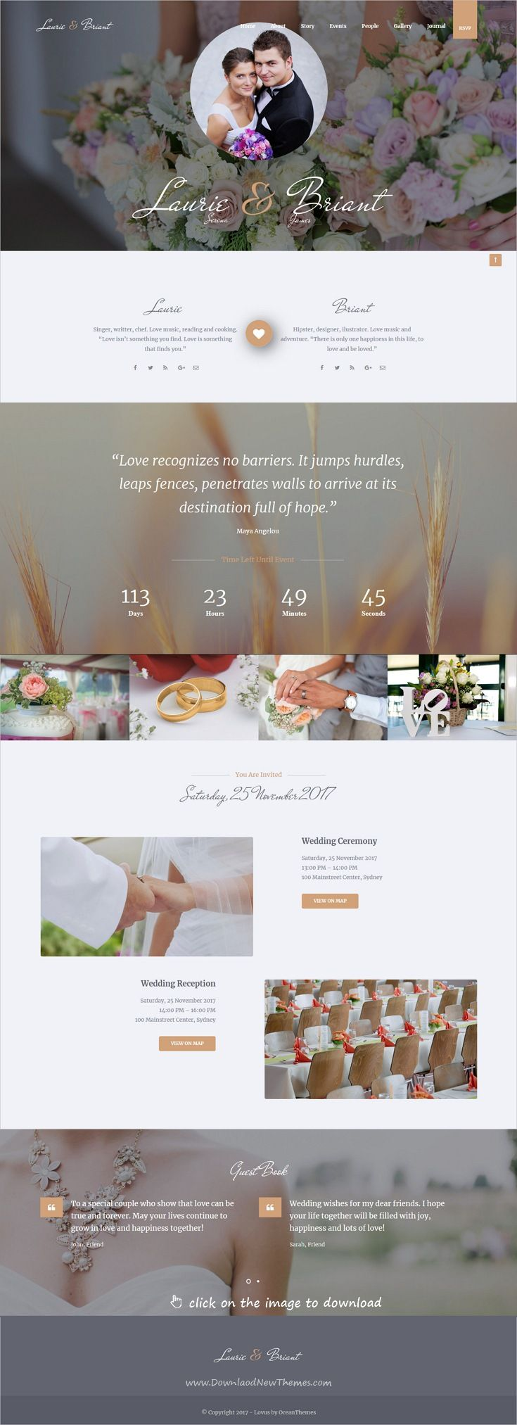 Lovus Wedding Planner WordPress Theme Web Design Inspiration And