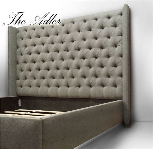 The Adler Headboard 68 Tall Deep Button Tufted Wingback Headboard Our 12 Tall Upholstered Bed Frame And Mattress Support System Conceal Box Spring And Pro Boxsprings Slaapkamer