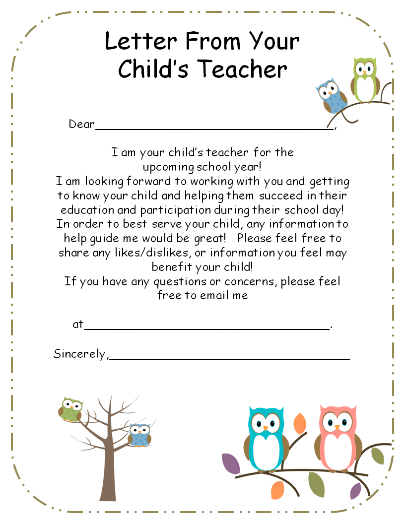 Letter from teacher to parents editable initials parents and letter from teacher to parents editable spiritdancerdesigns Choice Image