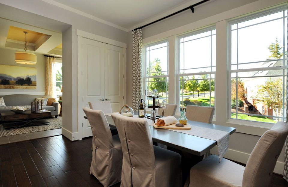 Dining Room Table With Attached Seating Area