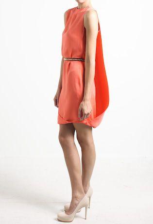 cape short dress