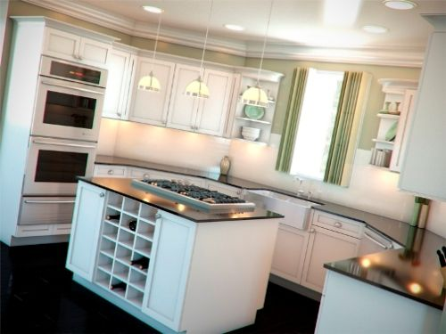 This Is The Other Sample Of U Shaped Kitchen Design In Choosing Island For Layout You Should Pay Attention Very Well