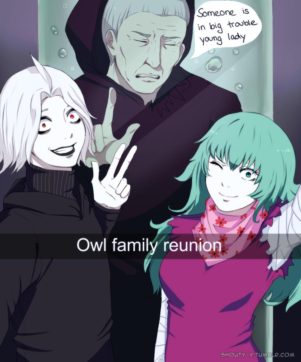 Tokyo Ghoul snapchat  Seidou , Eto and Yoshimura