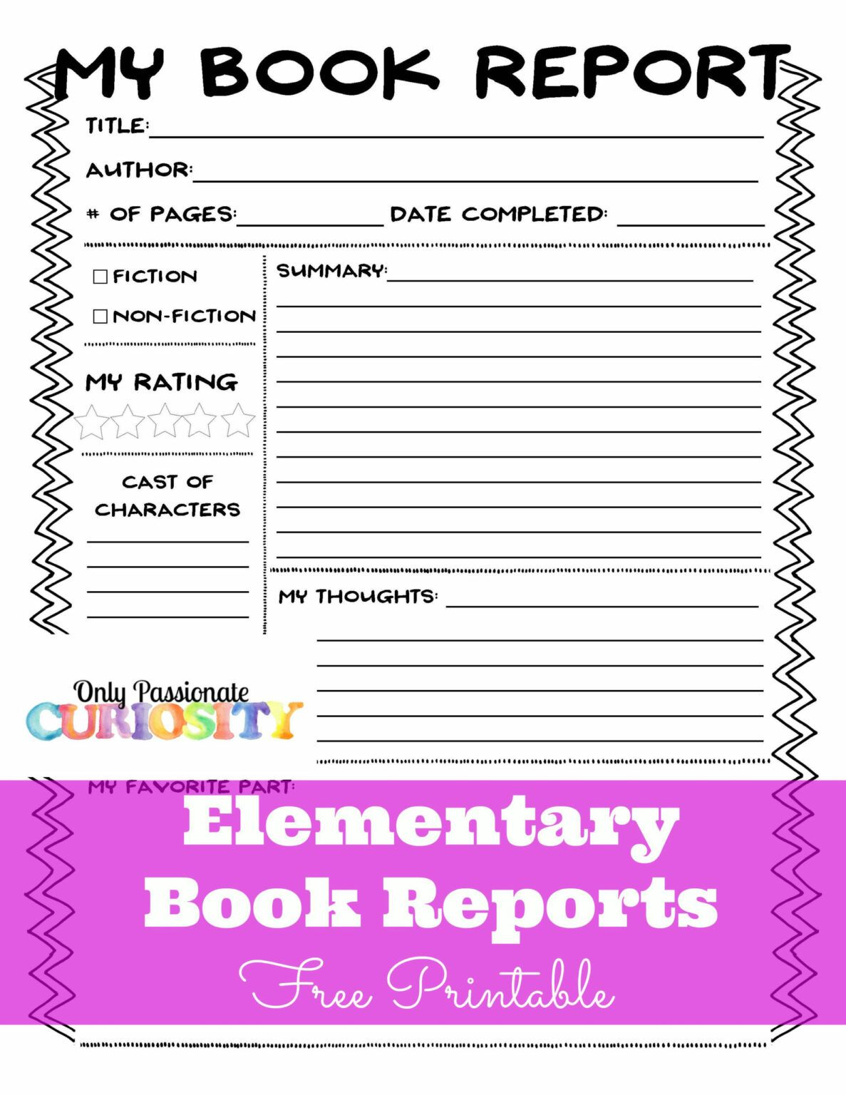 Sandwich Book Report Printout Intended For Sandwich Book Report Printable Template In 2020 Book Report Templates Elementary Books Book Report