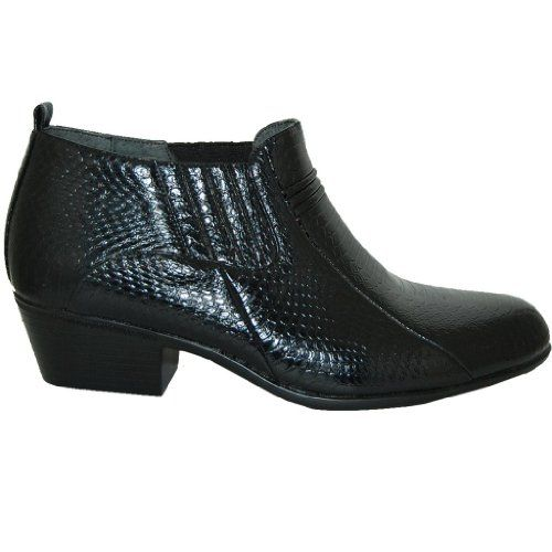 c0a162e297234 $25 Amazon.com: 2 Inch Cuban Heel Leather Line Boot: Shoes | Once ...