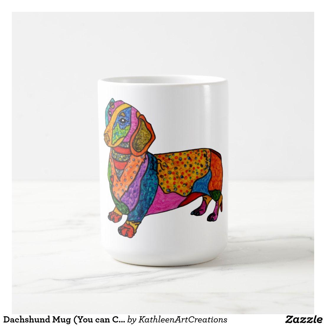 Sentimental Wedding Gift Ideas: Dachshund Mug (You Can Customize)