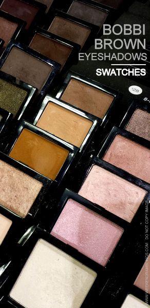 Bobbi Brown Eyeshadows - Swatches  Make-Up