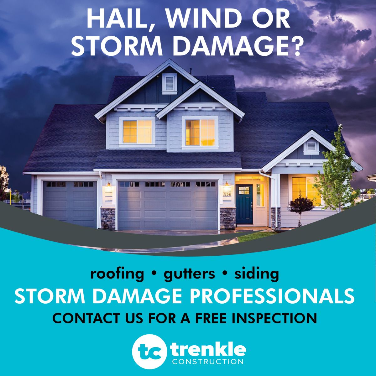 We Are Your Storm Damage Professionals We Work With All Insurance