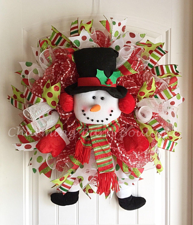 Custom Order For Glenda Christmas Wreath Snowman Wreath Christmas Snowman Wreath Snowman De Christmas Decorations Cheap Christmas Ornaments Holiday Wreaths