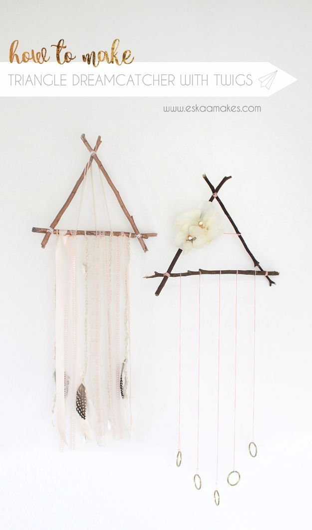 Photo of DIY Dream Catchers – Triangle Dreamcatcher with Twigs – How to Make a Dreamcatch…