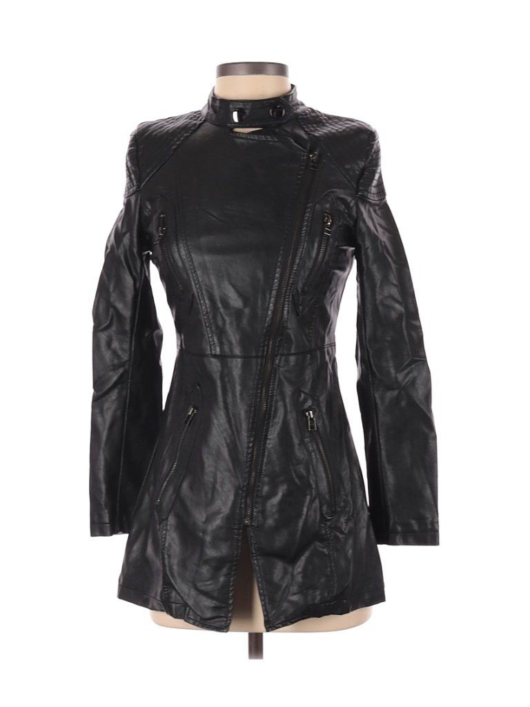 Assorted Brands Faux Leather Jacket Black Solid Jackets Outerwear Size Small In 2021 Motorcycle Jacket Women Jackets Leather Jacket [ 1024 x 768 Pixel ]