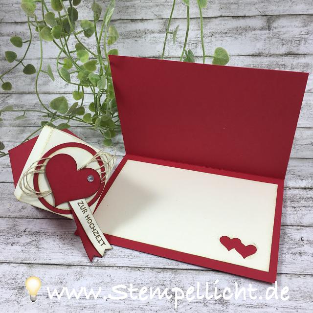 Verpackungen für Hochzeit mit passender Karte mit der Fensterschachtel und den Zierschachteln von Stampin Up sowie einer Diamantbox.