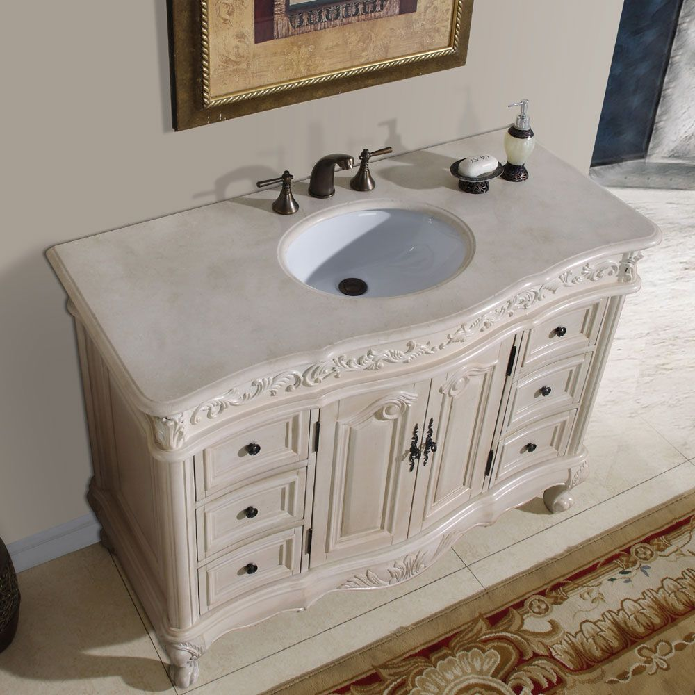 Silkroad exclusive 58 inch marble stone top bathroom vanity lavatory - Update Your Bathroom Decor With A Single Sink Vanityinstalling Lavatory Furniture Is A Great Home Improvement Projectantique Bathroom Single Sink Vanity