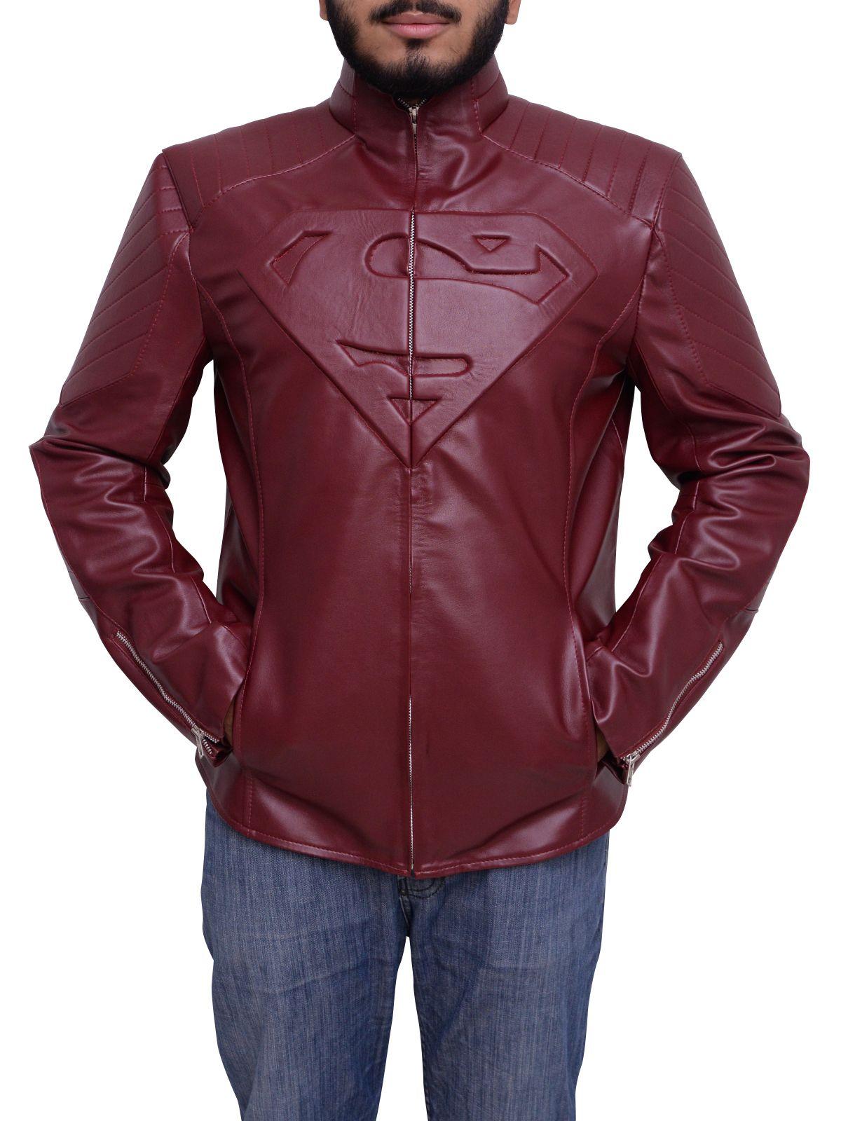 Superman Man Of Steel Smallville Maroon Jacket in 2020