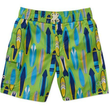 15ef13368dc28 Op Baby Toddler Boy Printed Swim Trunks Shorts, Size: 25 Months, Red ...