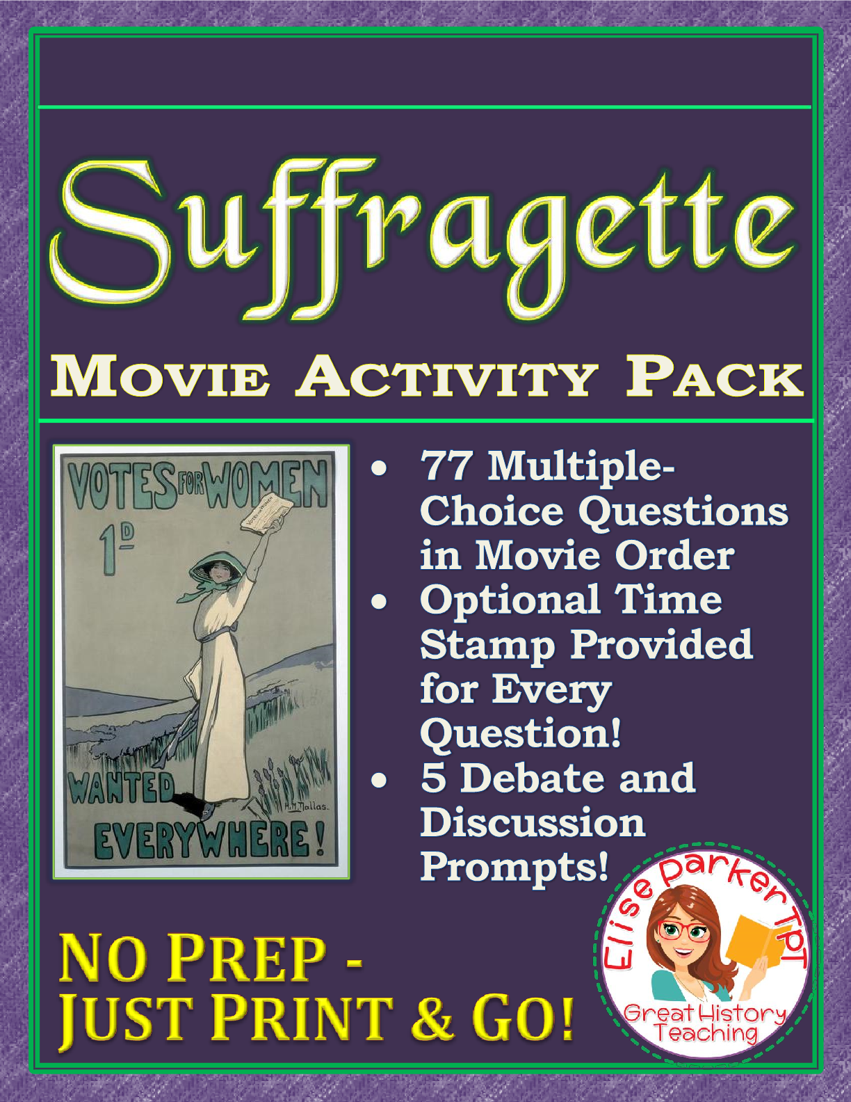 Suffragette Movie Worksheets And Activity Pack Suffrage