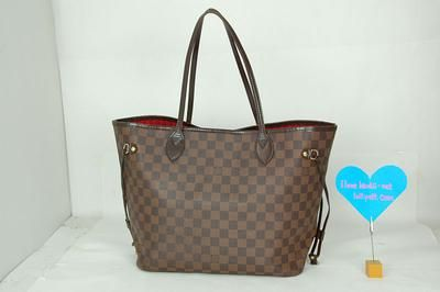 FREE SHIPPING Authentic Louis Vuitton Damier Ebene Neverfull MM Tote Bag