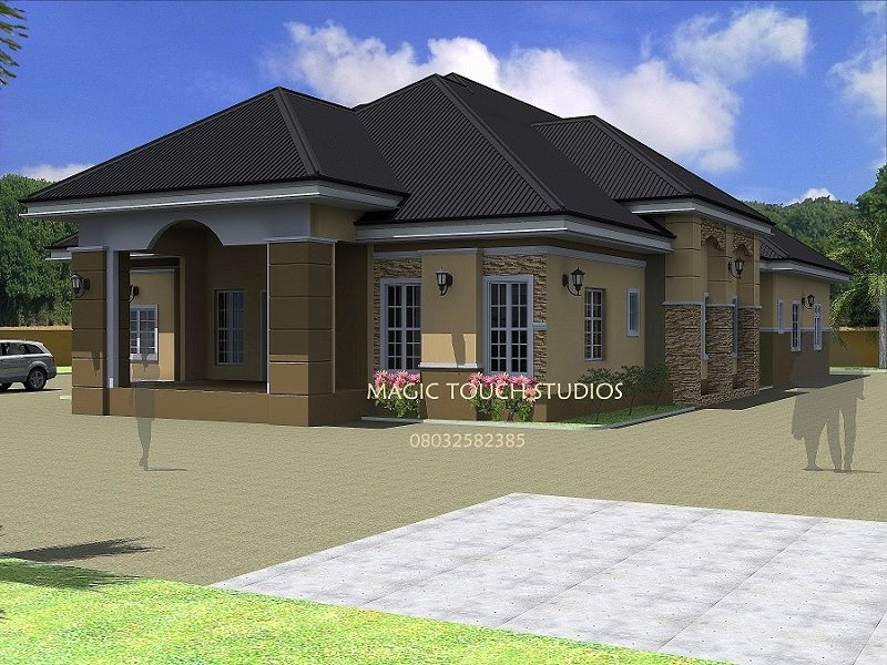 4 bedroom bungalow pictures design ideas 2017 2018 for Beautiful 4 bedroom house designs