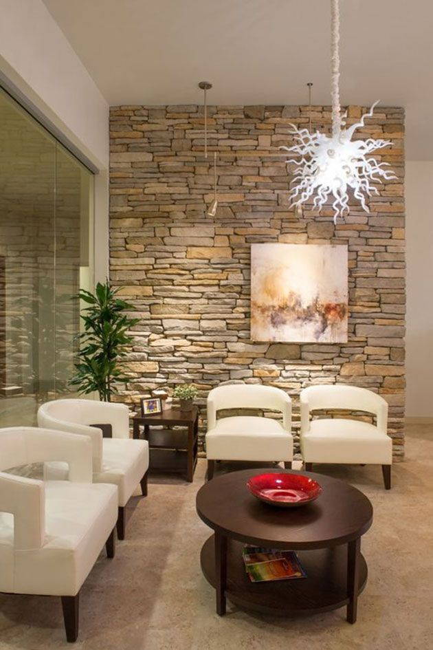 paredes de piedra decorativa para interior fotos e ideas