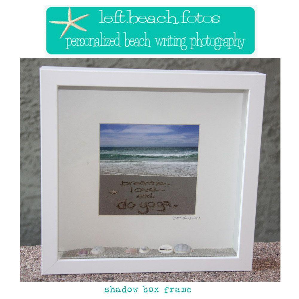 Shadow Box Frame Personalized Beach Writing Photograph. $58.00, via ...