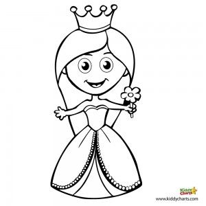 princess colouring get your own little lady to colour in - Free Colouring