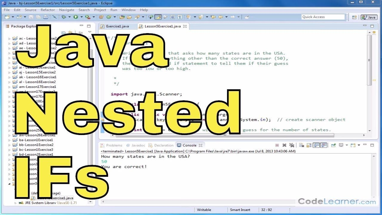 Java programming tutorial 18 nested if statements in
