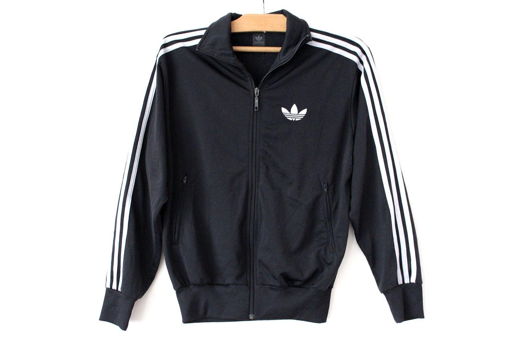Black Silver Adidas Jacket Vintage Adidas Tracksuit Adidas Tennis Top Zip Up Adidas Sweatshirt Hip Hop St Adidas Tracksuit Tracksuit Tops Adidas Sweatshirt