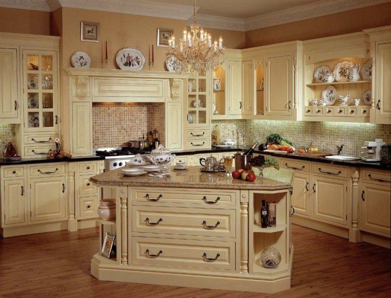 Kitchen Old Fashioned Cabinets Extendable Dining Table