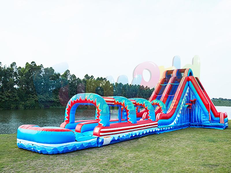 Waterslide Giant City Slide Inflatable Water Slide With Swimming Pool Mega Wave Water Slide Water Slides Giant Water Slide Inflatable Water Slide