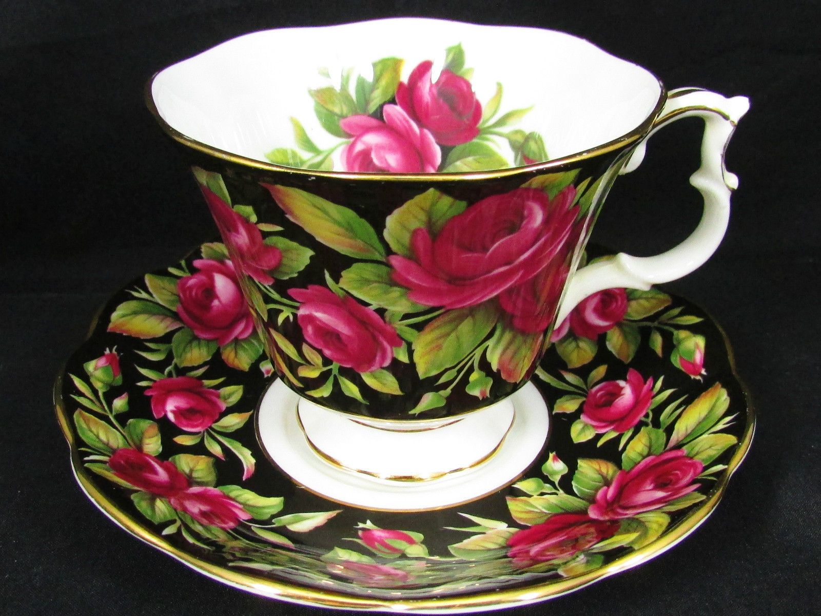 Royal Albert Crimson Glory Red Roses Chintz Tea Cup and Saucer | eBay