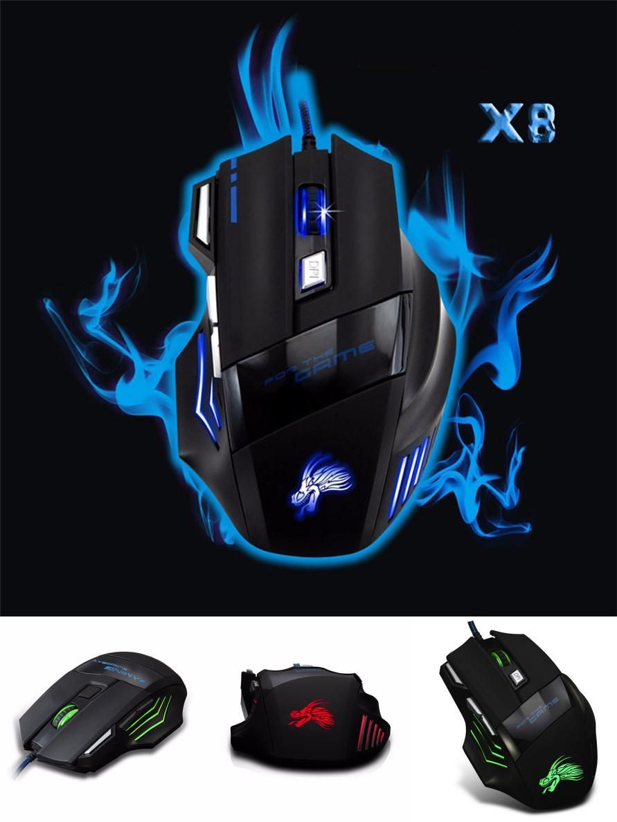 fd7c6007e04 [Visit to Buy] Realibale mouse gaming mouse 5500 DPI 7 Button LED Optical  USB
