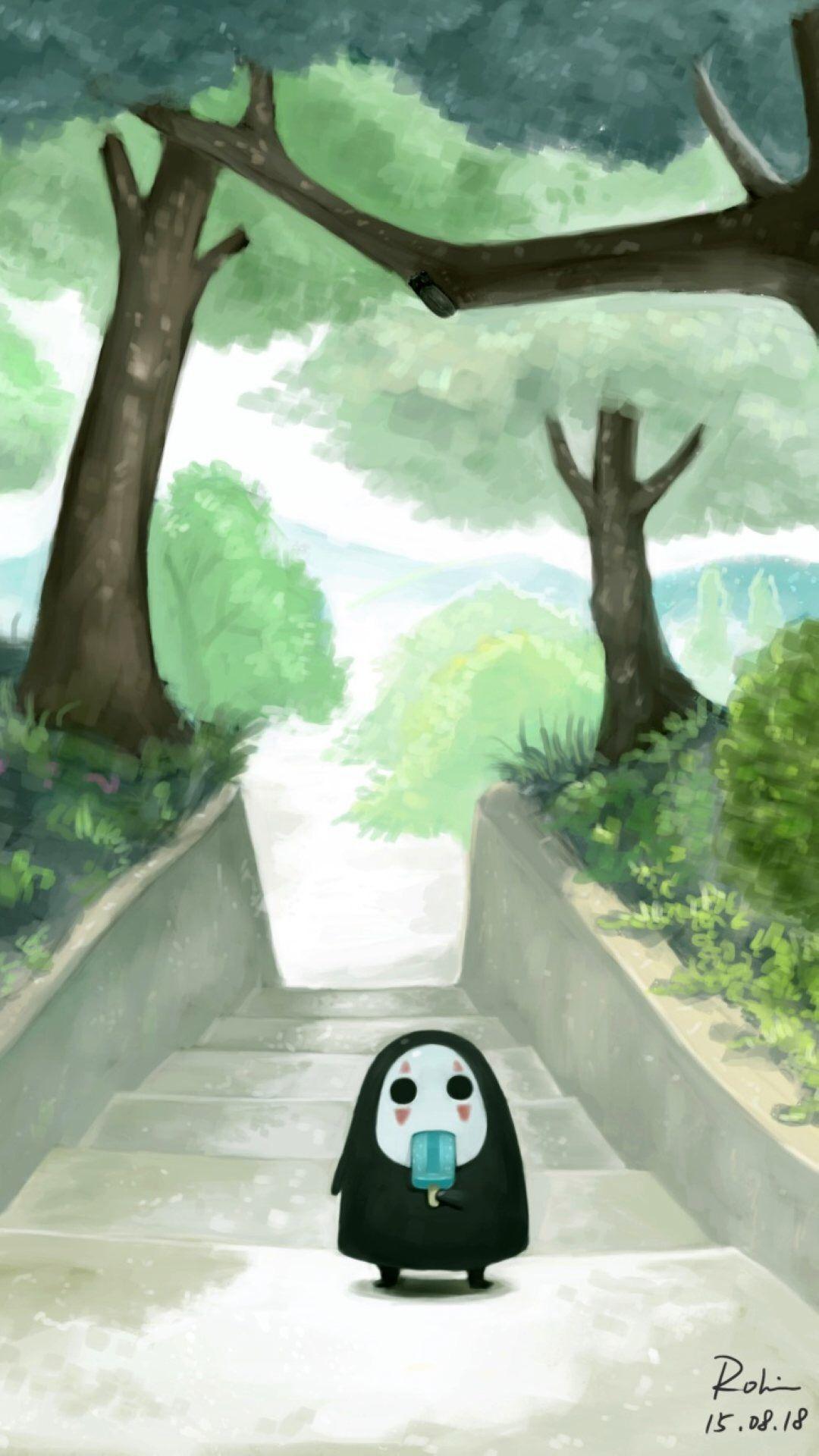Kaonashi (No face) Spirited Away Anime, Hoạt hình, Totoro