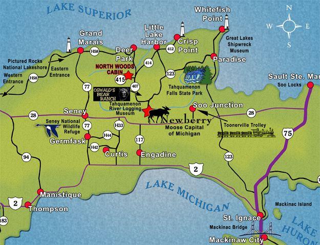 Tourist Attractions Upper Michigan In Michigan And
