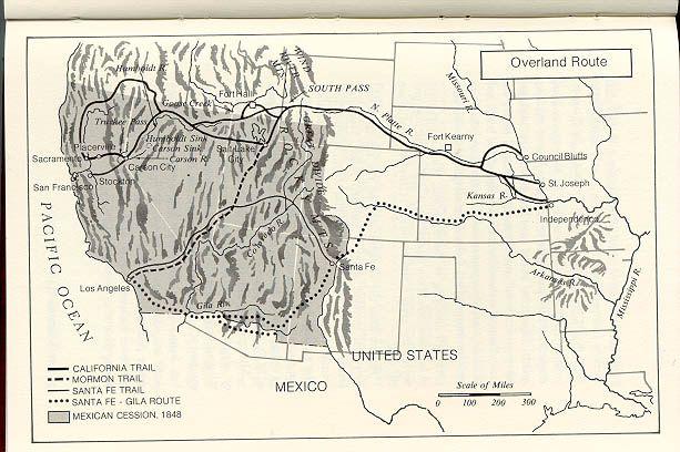 Gold Rush Land Routes | California Gold Rush | Pinterest | Gold rush