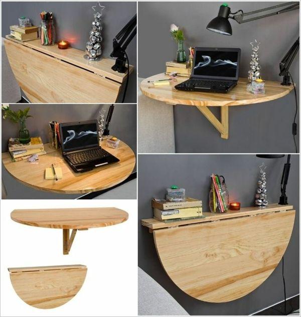Raumsparende Ideen Fur Die Wohnung Klapptisch Holz Klapptisch