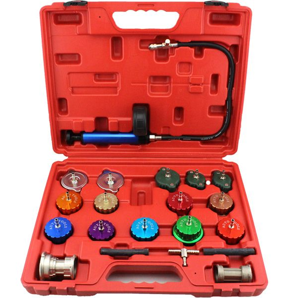 21pcs Universal Radiator Pressure Tester Kit Cooling System Tester