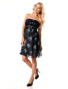 Donna Morgan Strapless Babydoll Maternity Dress
