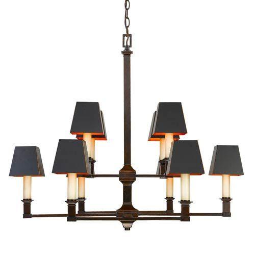 Golden lighting bradley cordoban bronze ten light chandelier with bradley cordoban bronze ten light chandelier with black metal shades mozeypictures Images
