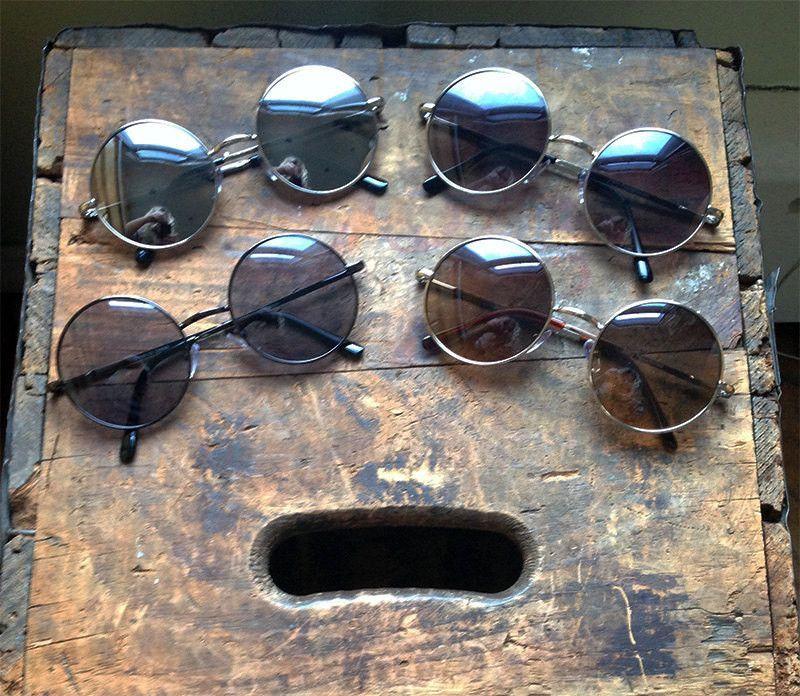 9b5b2122b95 Black metal frame circle round sunglasses. Super hippie chic sunglasses!  Perfect John Lennon Sunglasses! Frame Width  136mm Frame Height  54mm Lens  Width  ...